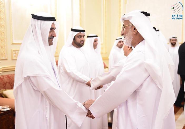حاكم الفجيره يستقبل جموع المهنئين بشهر رمضان