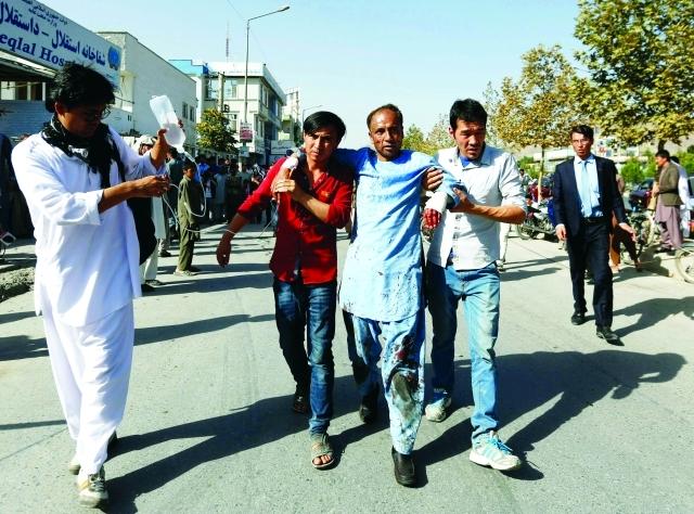 345 قتيلاً وجريحاً بتفجير إرهابي في كابول