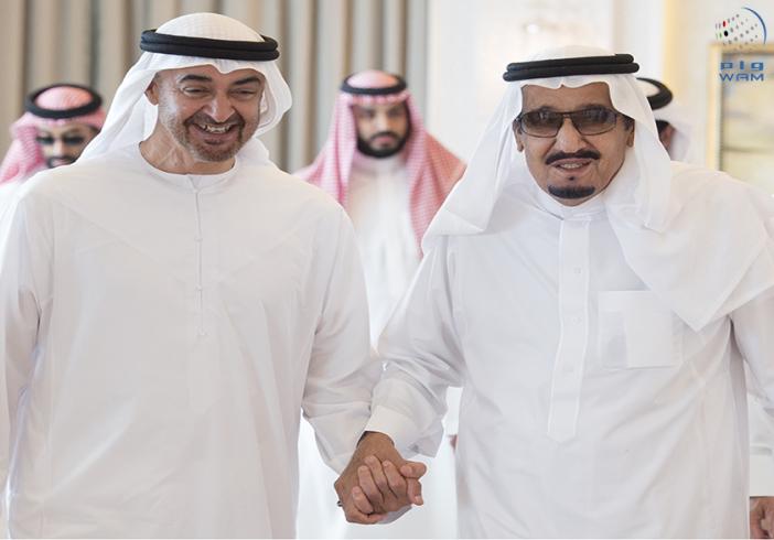 محمد بن زايد والملك سلمان يستعرضان العلاقات الأخوية وأحداث المنطقة