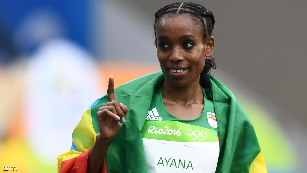 ذهبية أولمبية ورقم قياسي لعداءة إثيوبيا