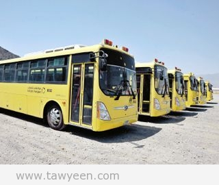 مواصلات الامارات تتسلم 11 حافلة مدرسية جديدة