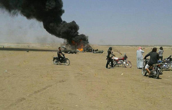 تحطم مروحية روسية تقل 5 عسكريين بسوريا