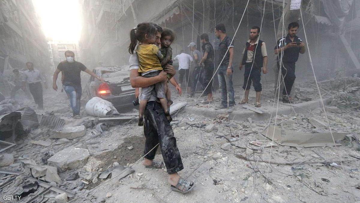ريف دمشق.. مقتل أطفال بغارات على كفر بطنا