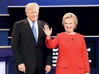 استطلاعات تقدم كلينتون على ترامب في المناظرة الأولى