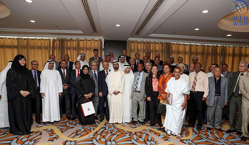محمد بن راشد يلتقي المشاركين في اجتماعات المكتب الدائم للأدباء والكتاب العرب