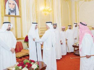حاكم الفجيرة يواصل استقبال المهنئين بعيد الأضحى المبارك