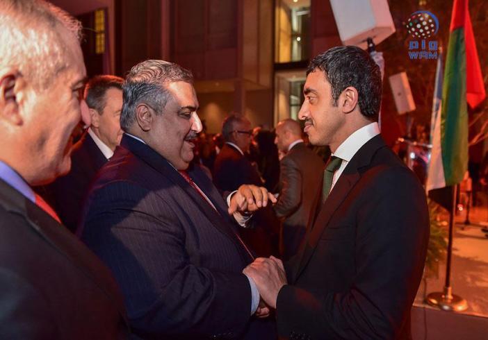 عبدالله بن زايد يقيم حفل استقبال رسمي على هامش دورة الجمعية العامة