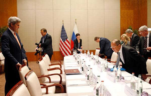 كيري ولافروف يجتمعان في محاولة جديدة للتوصل لاتفاق حول سوريا
