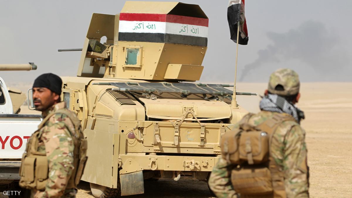 الجيش العراقي يقتحم قضاء الحمدانية