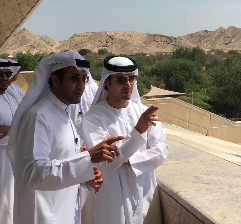 هزاع بن زايد يفتتح مركز الشيخ زايد لعلوم الصحراء في حديقة العين للحيوان