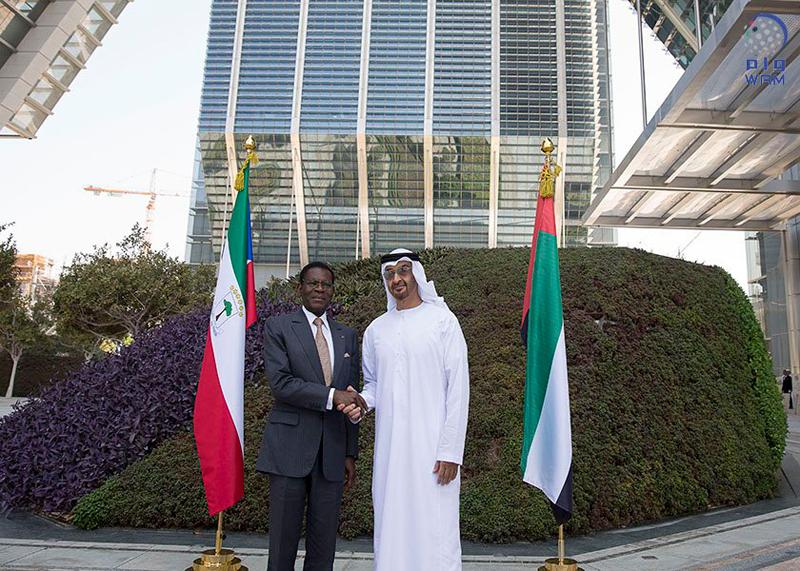 محمد بن زايد يستقبل رئيس غينيا الاستوائية ويبحث معه العلاقات الثنائية