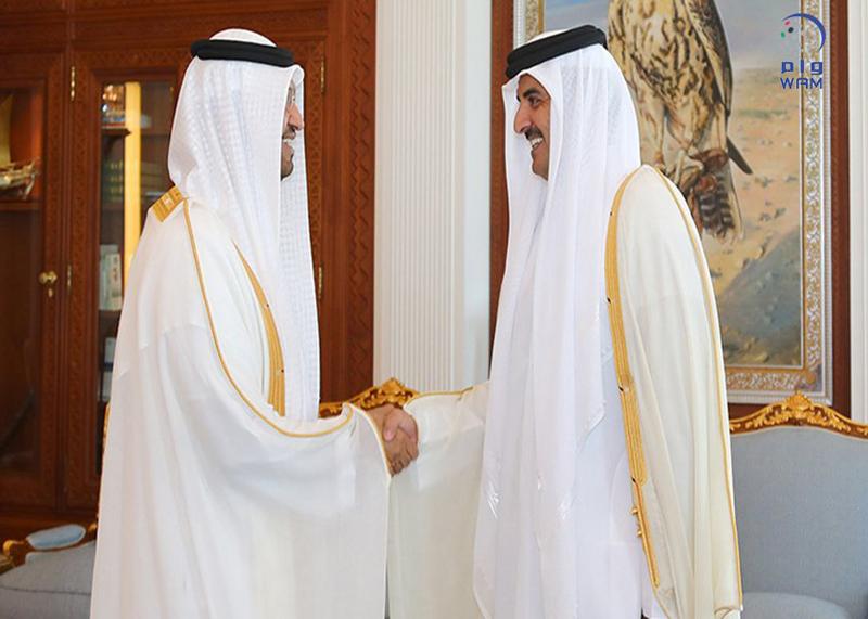 أمير قطر يستقبل سلطان الجابر