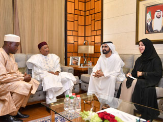 محمد بن راشد يستقبل رئيس النيجر
