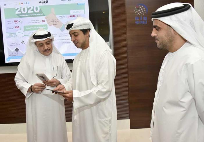 منصور بن زايد يدشن منصة الرؤية الإعلامية