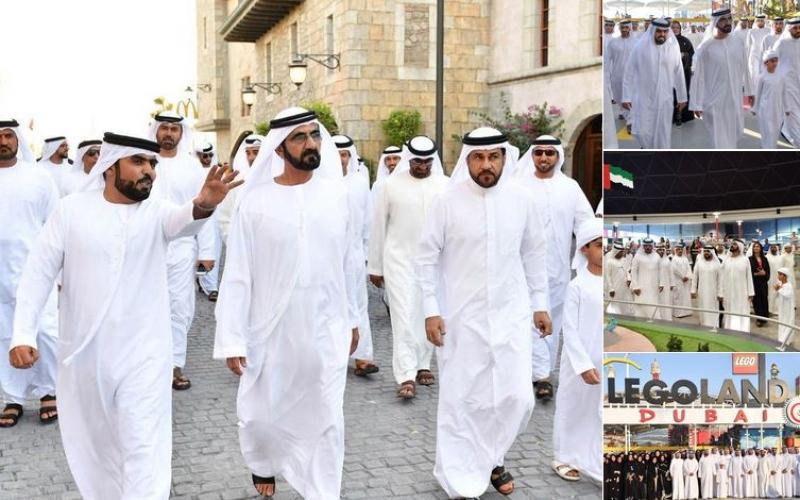 محمد بن راشد يزور «دبي باركس آند ريزورتس»