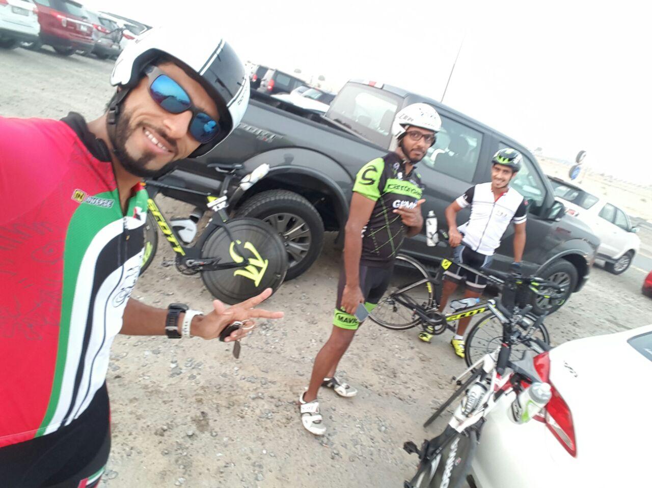 الفجراوي محسن آل علي يمثل منتخب الإمارات للترايثلون في  بطولة غرب آسيا