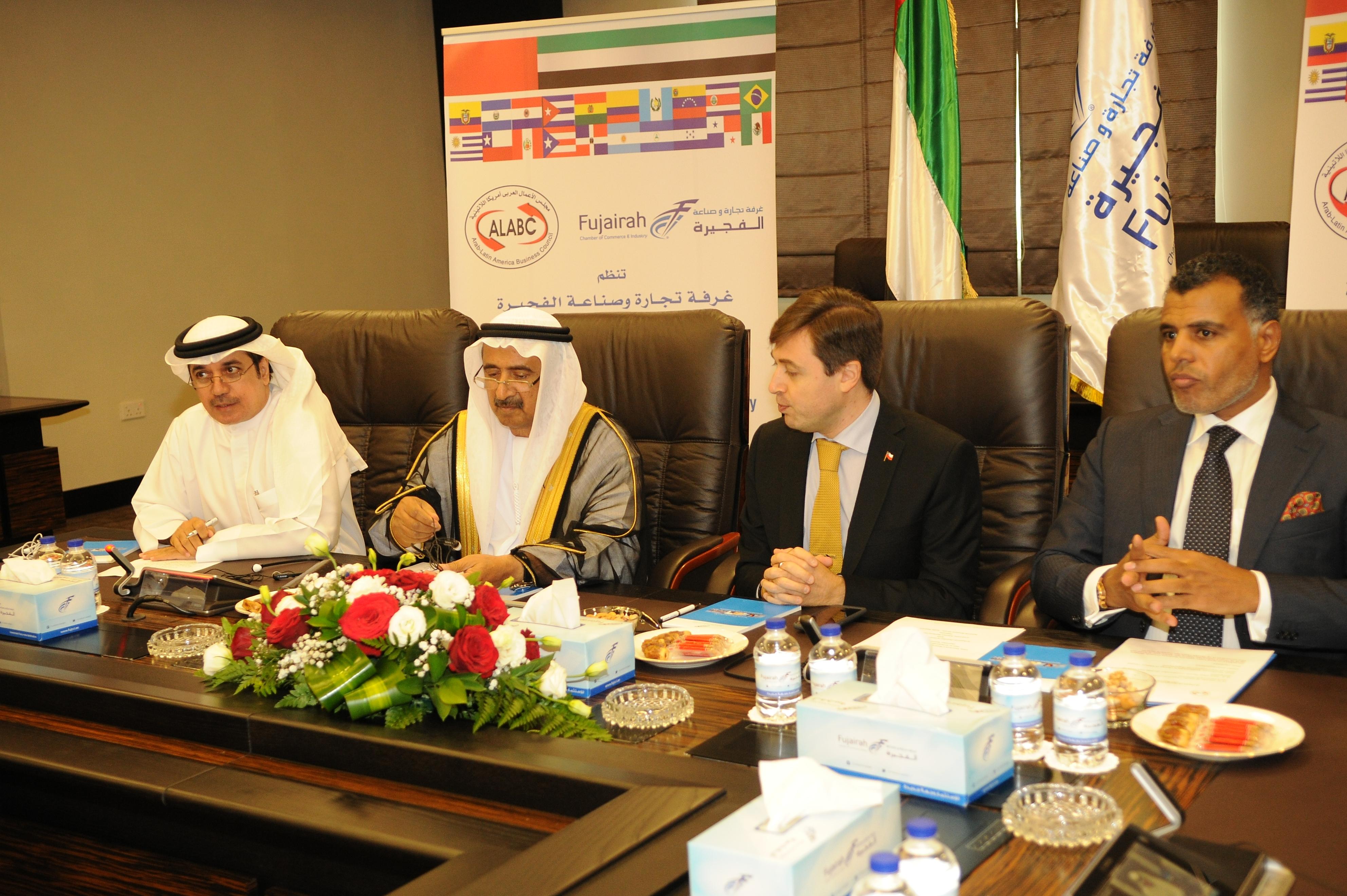 لقاء غرفة الفجيرة مع سفراء وقناصل دول أمريكا اللاتينية  و مجلس الأعمال العربي أمريكا اللاتينية