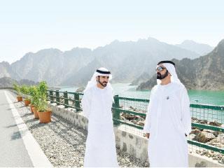 محمد بن راشد يحضر حفل إطلاق مشروع حتا التنموي