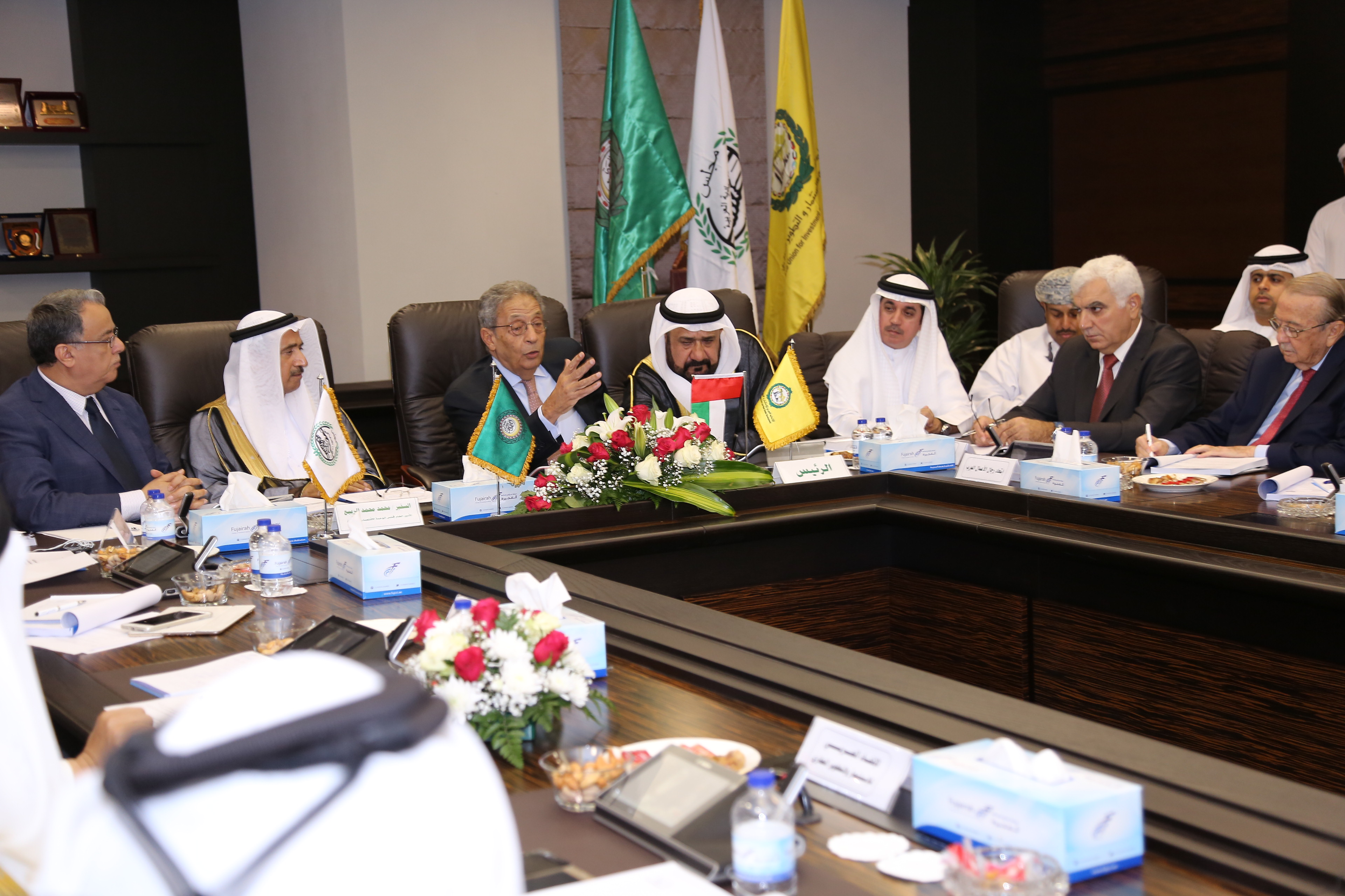 اجتماع اتحادات مجلس الوحدة الاقتصادية العربية على هامش مؤتمر الاستثمار العقاري