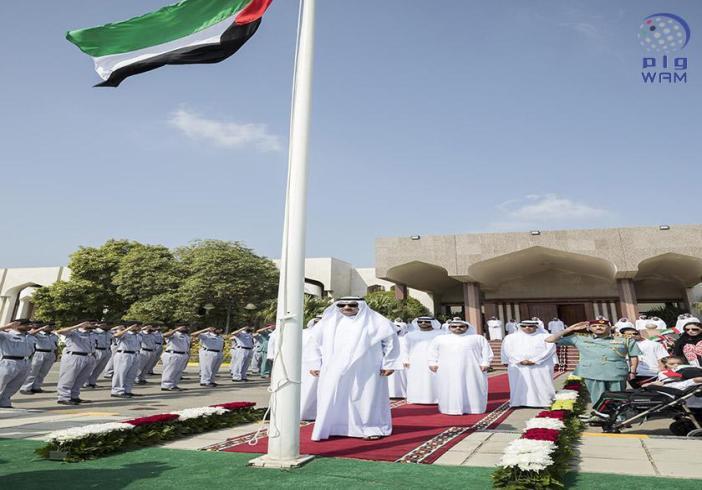 حاكم الفجيرة : نجدد العهد لعلم الإمارات على الإخلاص له وترسيخ مكانته