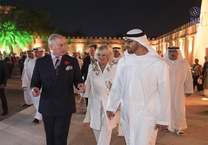 محمد بن زايد والأمير تشارلز يشهدان حفل إطلاق عام الثقافة الإماراتية البريطانية 2017