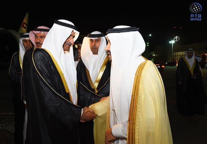 حاكم الفجيرة ينقل تعازي رئيس الدولة ونائبه ومحمد بن زايد في وفاة الأمير تركي بن عبدالعزيز