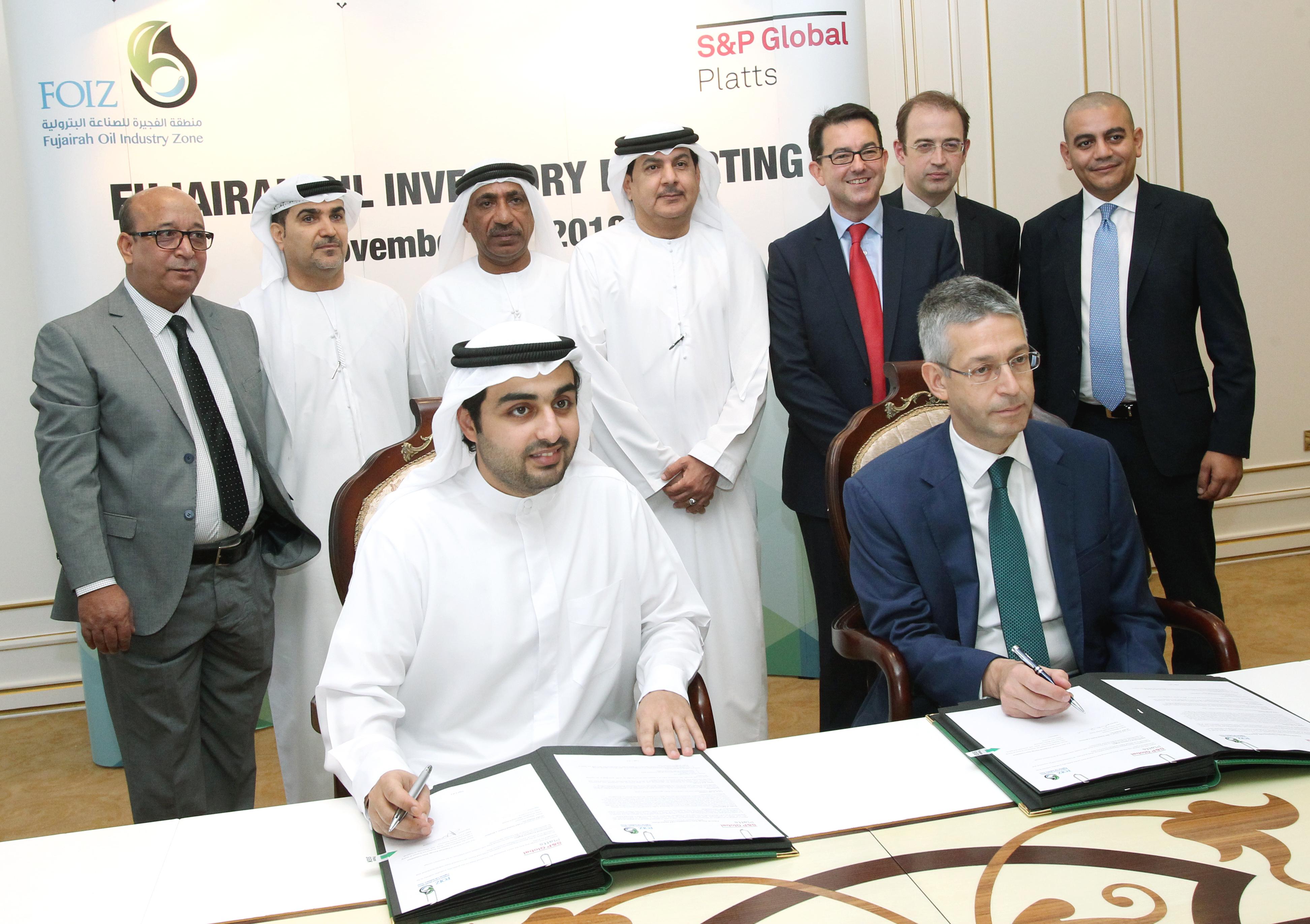 اتفاقية بين  منطقة الفجيرة للصناعات البترولية  و شركة جلوبال بلاتس لنشر بيانات المخزونات النفطية