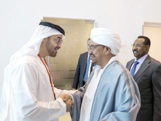 ولي عهد أبوظبي يستقبل رئيسي السودان وإقليم كردستان العراق