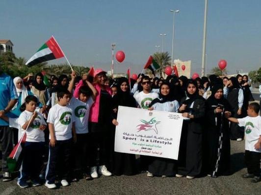 هيئة  الشباب والرياضة تنظم مبادرة السعادة في الرياضة بالفجيرة