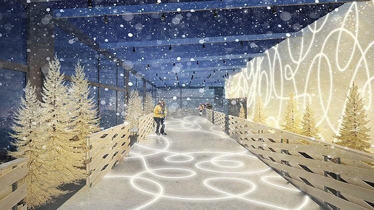افتتاح حلبة للتزلج فوق سطح ناطحة سحاب في موسكو!