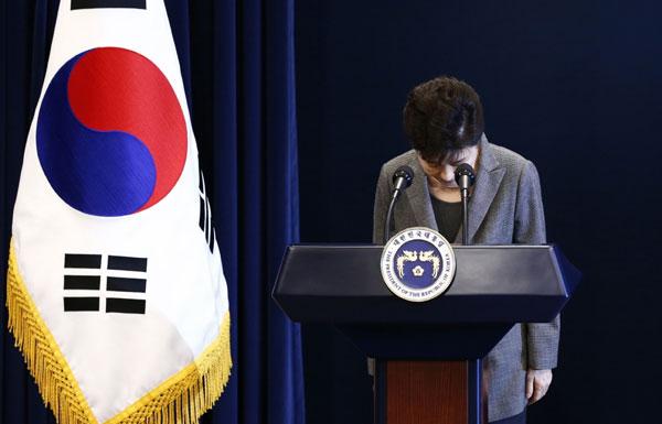 بعد إقالتها من قبل البرلمان.. الرئيسة الكورية الجنوبية تعتذر