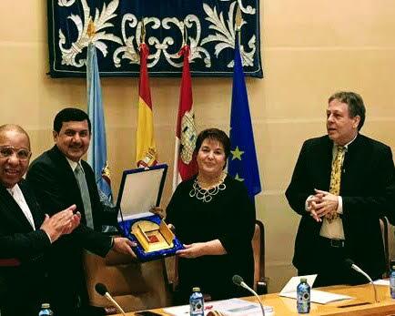 الافخم يبحث مع عمدة مدينة سيجوفيا الاسبانية التعاون المشترك في عددمن المجالات
