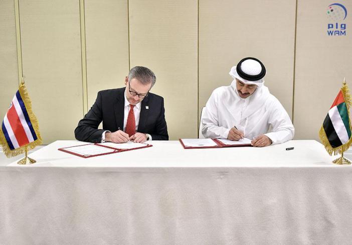 الإمارات وكوستاريكا يوقعان على بروتوكول تعديل اتفاقية الاعفاء المتبادل من تأشيرة الدخول المسبقة