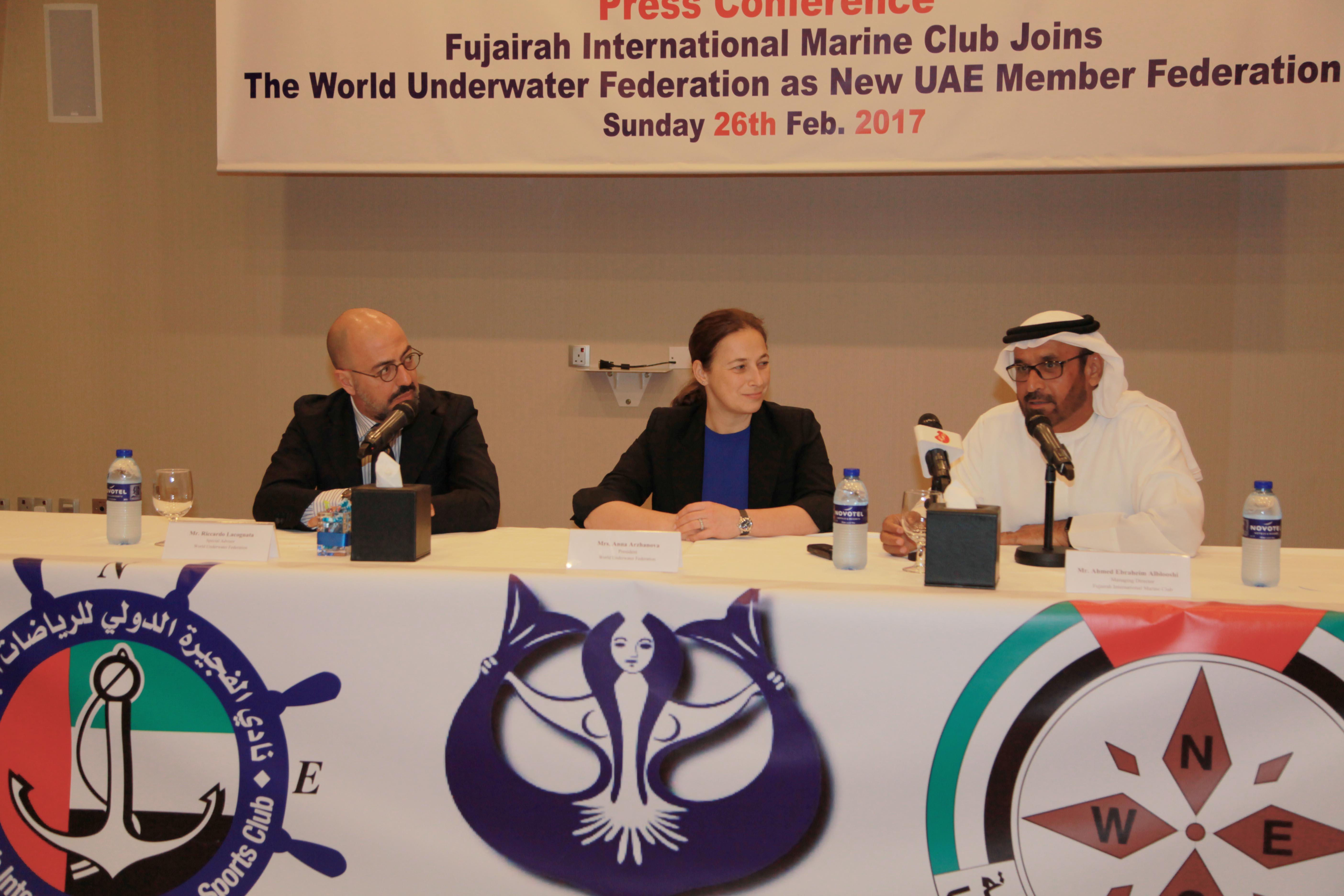 النادي البحري بالفجيرة ينضم رسميا للاتحاد الدولي للغوص والرياضات تحت الماء