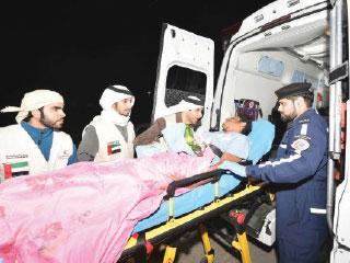 «الهلال» تتكفل بعلاج جرحى يمنيين في مستشفيات الدولة