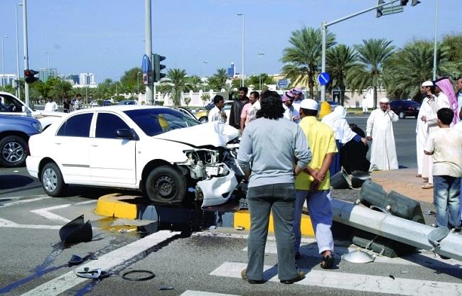 1000 درهم غرامة التجمهر خلال حوادث المرور
