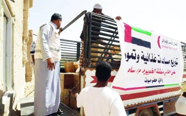الإمارات تواصل إغاثة أهالي حضرموت