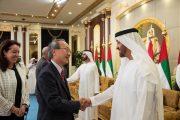 محمد بن راشد ومحمد بن زايد يستقبلان رؤساء البعثات الدبلوماسية والدولية لدى الدولة