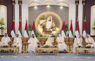 محمد بن راشد ومحمد بن زايد يستقبلان حكام الإمارات