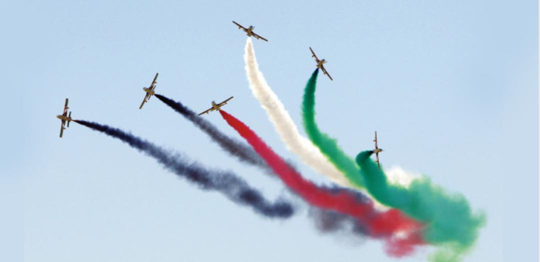 علم الإمارات يزين سماء موسكو لأول مرة في التاريخ