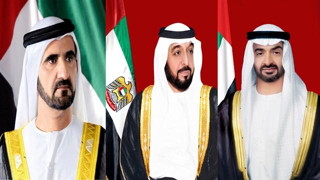 رئيس الدولة ونائبه ومحمد بن زايد يهنئون رؤساء خمس دول بذكرى الاستقلال