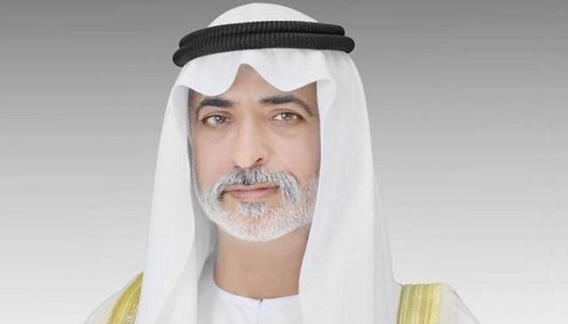 نهيان بن مبارك يقدم واجب العزاء في شهيد الوطن سعيد الكعبي