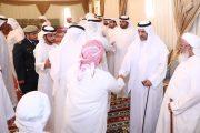 حاكم الفجيرة يقدم واجب العزاء في شهيد الوطن علي سعيد المسماري