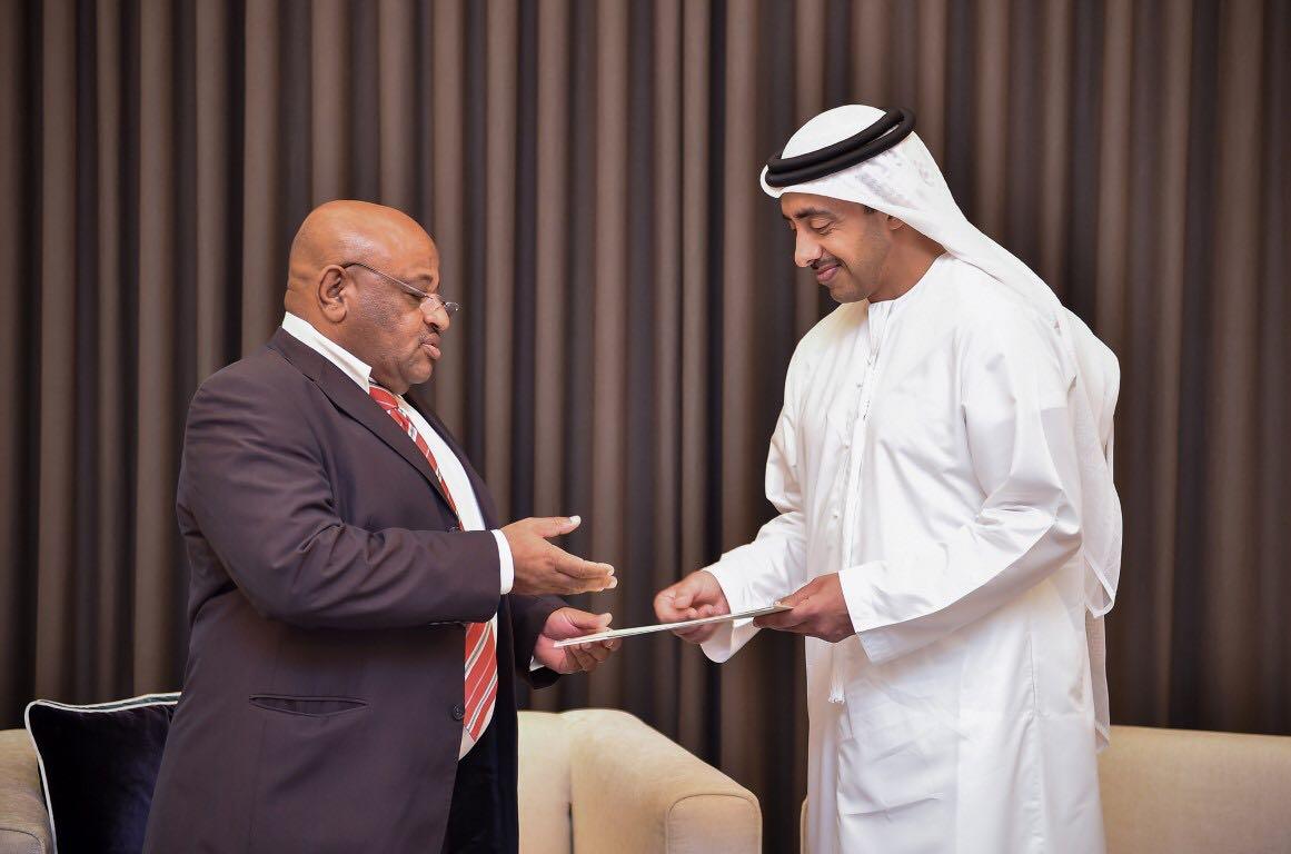 رئيس الدولة يتلقى رسالة خطية من رئيس جمهورية جزر القمر