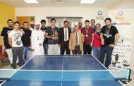 اختتام بطولة تنس الطاولة في جامعة عجمان بالفجيرة
