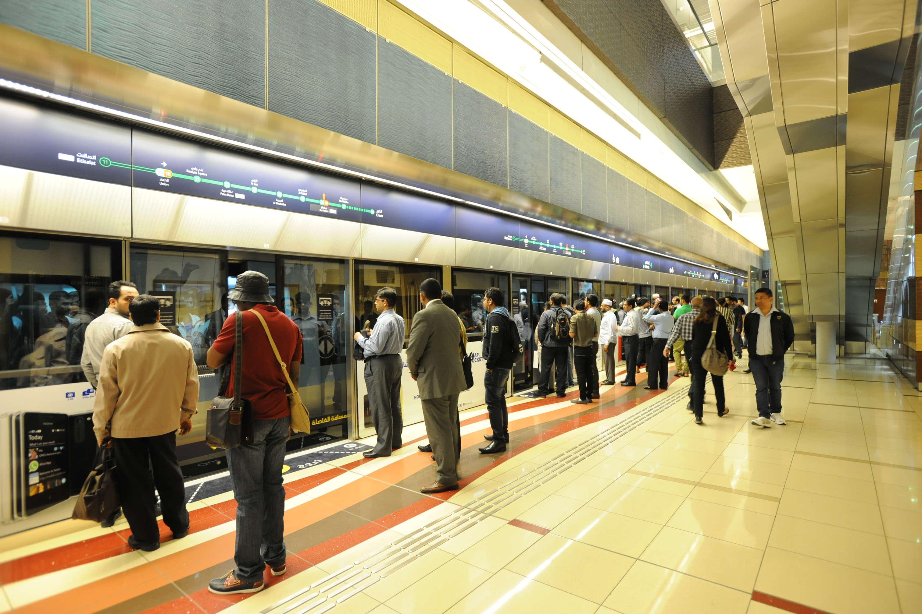 تغيير مواعيد انطلاق مترو وترام دبي