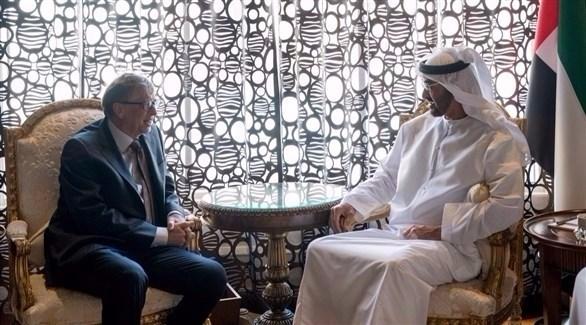 محمد بن زايد يستقبل بيل غيتس