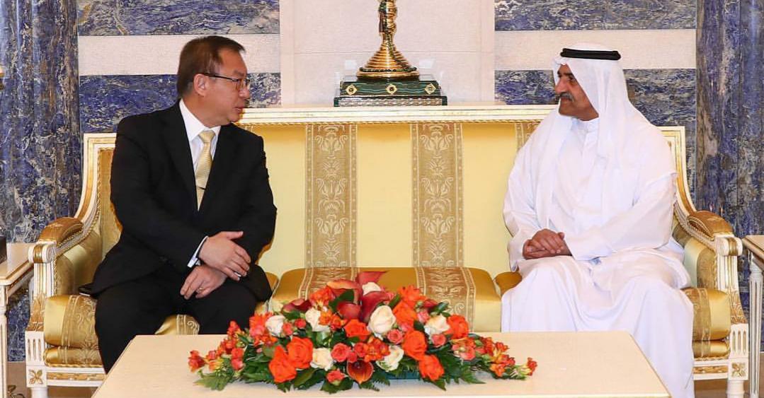 حاكم الفجيرة يستقبل سفراء دول جنوب شرق آسيا لدى الدولة