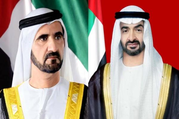 محمد بن راشد ومحمد بن زايد يهنئان المغرب وتونس