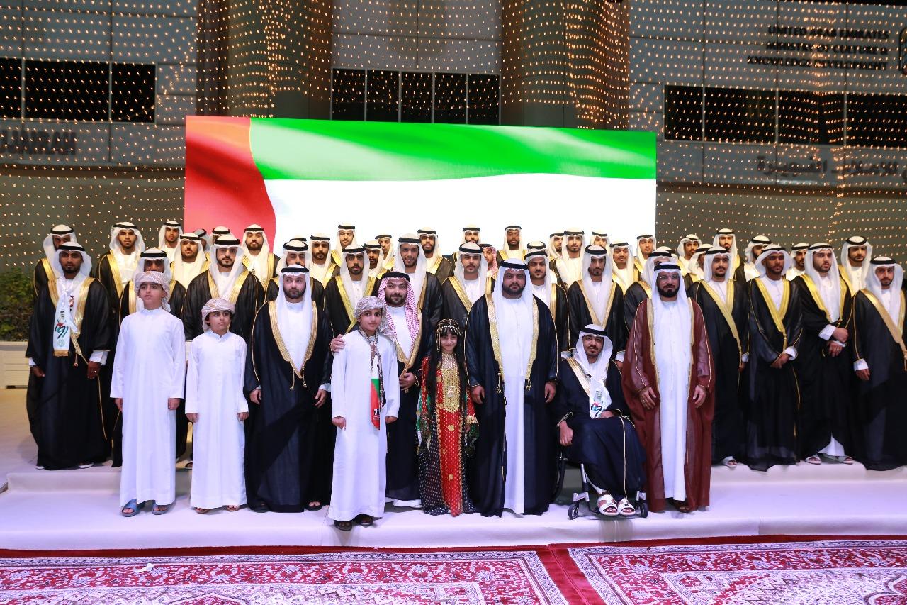 محمد الشرقي يشهد العرس الجماعي لـ 54 شاباً مواطناً في الفجيرة